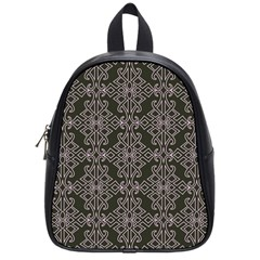 Line Geometry Pattern Geometric School Bags (small)