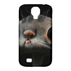 Big Eyes Doofy Cartoon Cat Samsung Galaxy S4 Classic Hardshell Case (PC+Silicone)