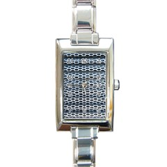 Texture Pattern Metal Rectangle Italian Charm Watch