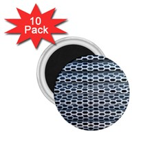 Texture Pattern Metal 1 75  Magnets (10 Pack)