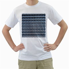Texture Pattern Metal Men s T Shirt (white) (two Sided)