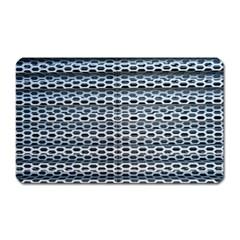 Texture Pattern Metal Magnet (rectangular)