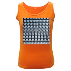 Texture Pattern Metal Women s Dark Tank Top