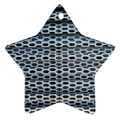 Texture Pattern Metal Star Ornament (two Sides)