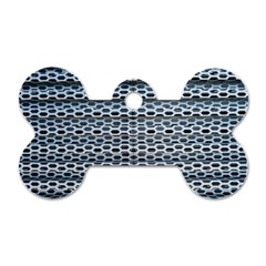 Texture Pattern Metal Dog Tag Bone (One Side)