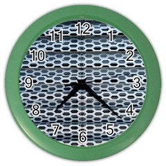 Texture Pattern Metal Color Wall Clocks