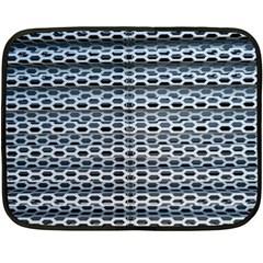 Texture Pattern Metal Double Sided Fleece Blanket (Mini)