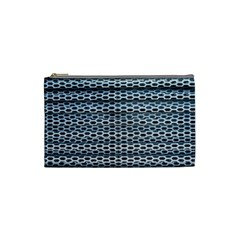 Texture Pattern Metal Cosmetic Bag (Small)