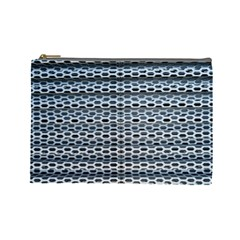 Texture Pattern Metal Cosmetic Bag (large)