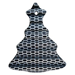 Texture Pattern Metal Christmas Tree Ornament (two Sides)