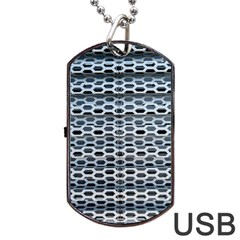 Texture Pattern Metal Dog Tag USB Flash (One Side)