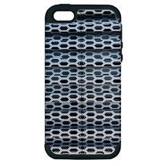 Texture Pattern Metal Apple Iphone 5 Hardshell Case (pc+silicone)