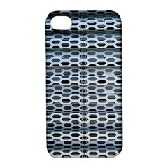 Texture Pattern Metal Apple Iphone 4/4s Hardshell Case With Stand