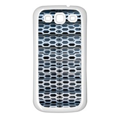 Texture Pattern Metal Samsung Galaxy S3 Back Case (White)