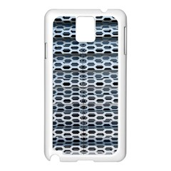 Texture Pattern Metal Samsung Galaxy Note 3 N9005 Case (White)