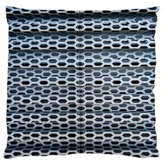 Texture Pattern Metal Large Flano Cushion Case (two Sides)