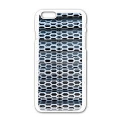 Texture Pattern Metal Apple iPhone 6/6S White Enamel Case