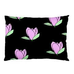 Black Magnolia Pillow Case (Two Sides)
