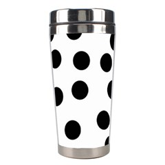 Black And White Dalmatian Spot Pattern Stainless Steel Travel Tumblers