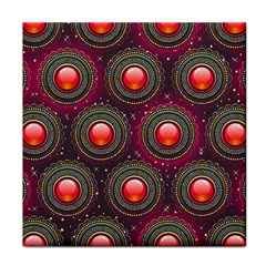 Abstract Circle Gem Pattern Tile Coasters