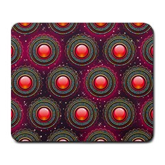 Abstract Circle Gem Pattern Large Mousepads