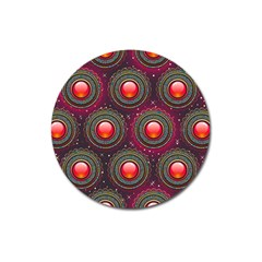 Abstract Circle Gem Pattern Magnet 3  (round)