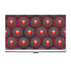 Abstract Circle Gem Pattern Business Card Holders