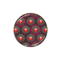 Abstract Circle Gem Pattern Hat Clip Ball Marker (10 Pack)