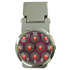 Abstract Circle Gem Pattern Money Clip Watches