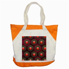 Abstract Circle Gem Pattern Accent Tote Bag