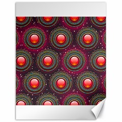 Abstract Circle Gem Pattern Canvas 18  x 24