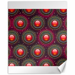 Abstract Circle Gem Pattern Canvas 11  X 14