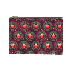 Abstract Circle Gem Pattern Cosmetic Bag (large)