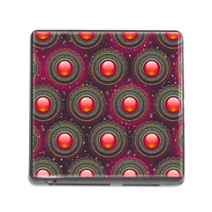 Abstract Circle Gem Pattern Memory Card Reader (Square)
