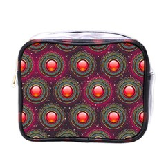 Abstract Circle Gem Pattern Mini Toiletries Bags