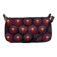 Abstract Circle Gem Pattern Shoulder Clutch Bags