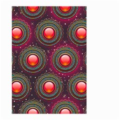Abstract Circle Gem Pattern Small Garden Flag (Two Sides)
