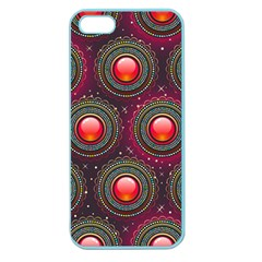 Abstract Circle Gem Pattern Apple Seamless iPhone 5 Case (Color)