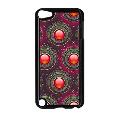 Abstract Circle Gem Pattern Apple Ipod Touch 5 Case (black)