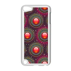 Abstract Circle Gem Pattern Apple Ipod Touch 5 Case (white)