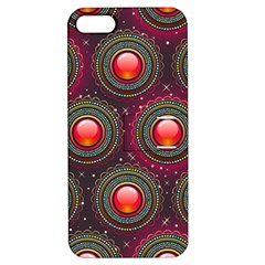 Abstract Circle Gem Pattern Apple iPhone 5 Hardshell Case with Stand
