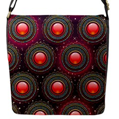 Abstract Circle Gem Pattern Flap Messenger Bag (S)