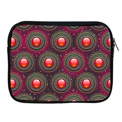 Abstract Circle Gem Pattern Apple Ipad 2/3/4 Zipper Cases