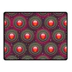 Abstract Circle Gem Pattern Double Sided Fleece Blanket (small)