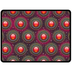 Abstract Circle Gem Pattern Double Sided Fleece Blanket (large)