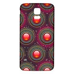 Abstract Circle Gem Pattern Samsung Galaxy S5 Back Case (white)
