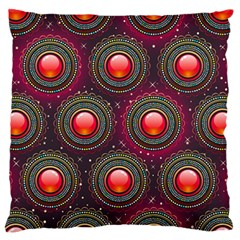 Abstract Circle Gem Pattern Large Flano Cushion Case (two Sides)