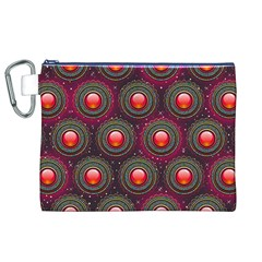 Abstract Circle Gem Pattern Canvas Cosmetic Bag (xl)