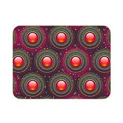 Abstract Circle Gem Pattern Double Sided Flano Blanket (Mini)