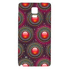 Abstract Circle Gem Pattern Galaxy Note 4 Back Case